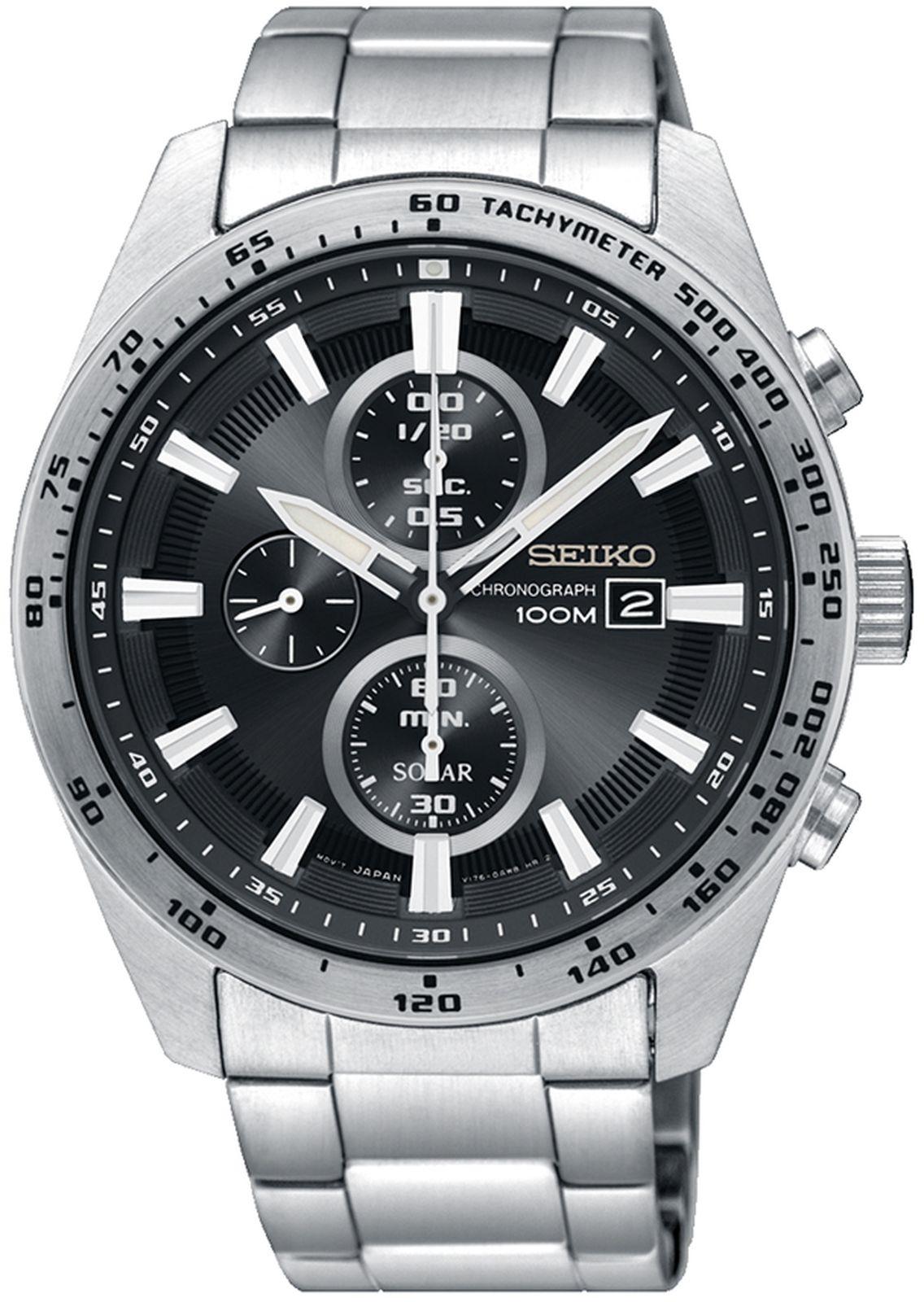 купить Наручные часы Seiko мужские, серебристый по цене 27500 рублей