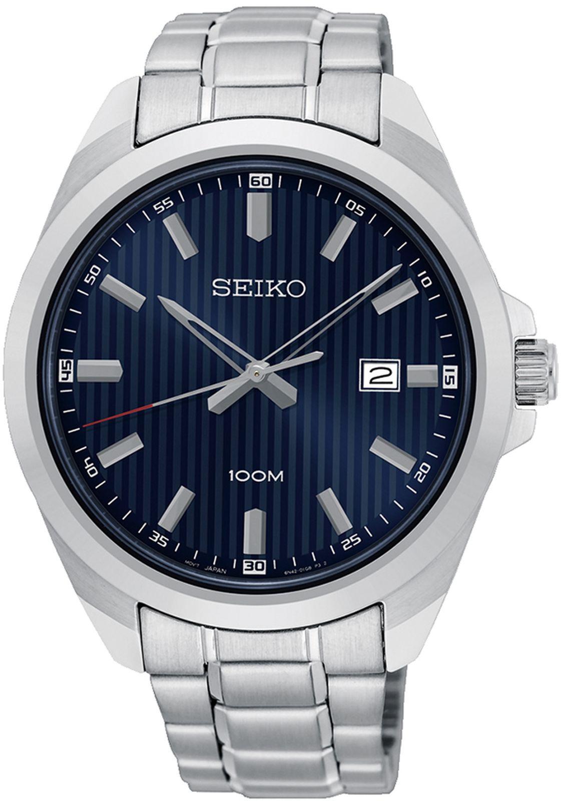купить Наручные часы Seiko мужские, серебристый по цене 10600 рублей