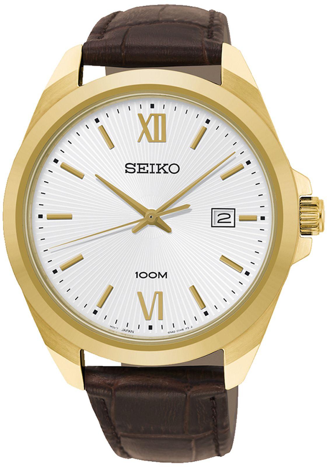 Наручные часы Seiko мужские, коричневый все цены
