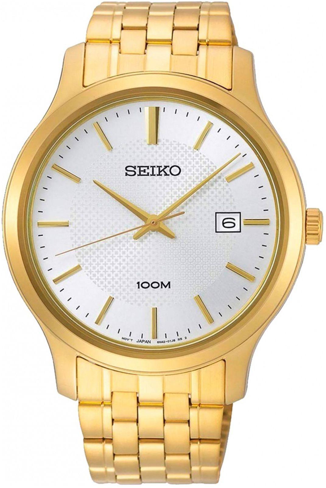 цена на Наручные часы Seiko мужские, золотистый