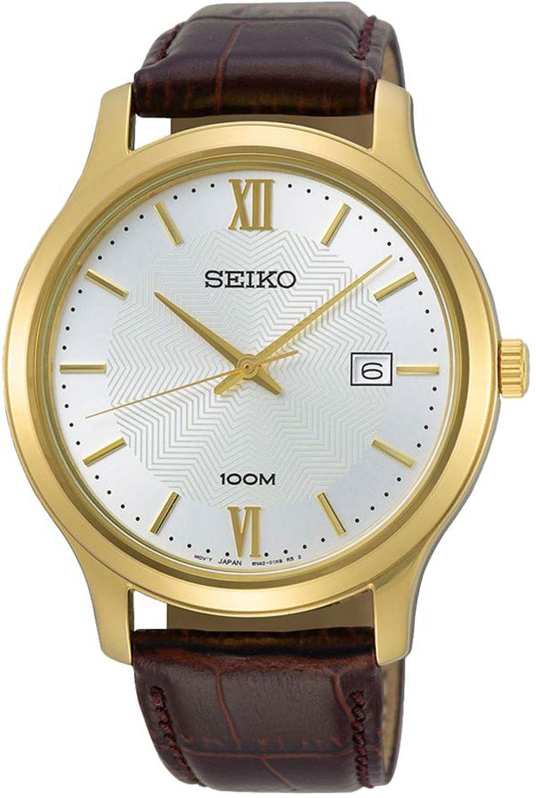 купить Наручные часы Seiko мужские, коричневый по цене 14000 рублей