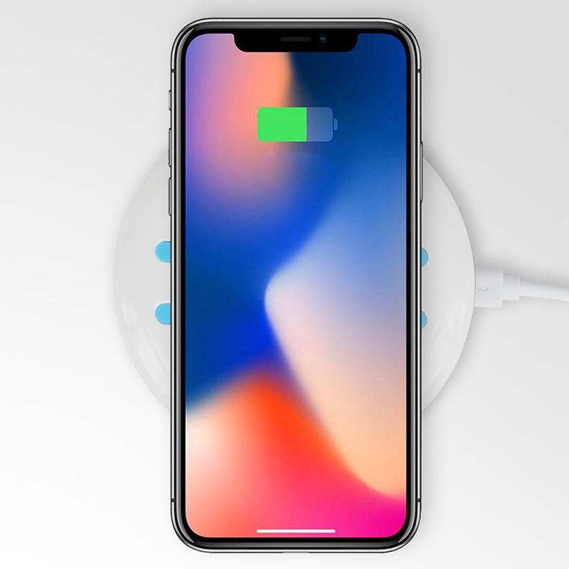 Беспроводное зарядное устройство Sunnywork с функцией быстрой зарядки, совместимое со всеми Qi-совместимыми смартфонами для iphone8 iphonex Samsung S6 / S7 / Plus / Note