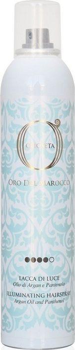 Лак-блеск для волос Barex Italiana Olioseta Oro Del Marocco, с маслом арганы и пантенолом, 300 мл barex дорожный наборпитательный шампунь питательная маска barex olioseta oro del marocco travel kit 000206 100 100 мл