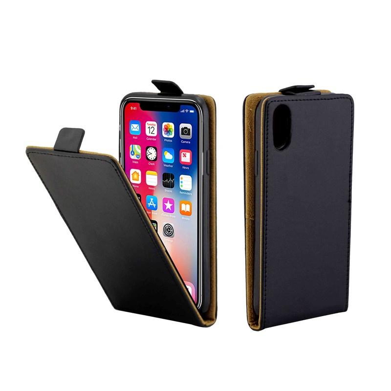 Бизнес кожаный чехол для Coque iPhone X Вертикальная откидная крышка Слоты для карт Чехлы для iPhone XS Сумки для мобильных телефонов все цены