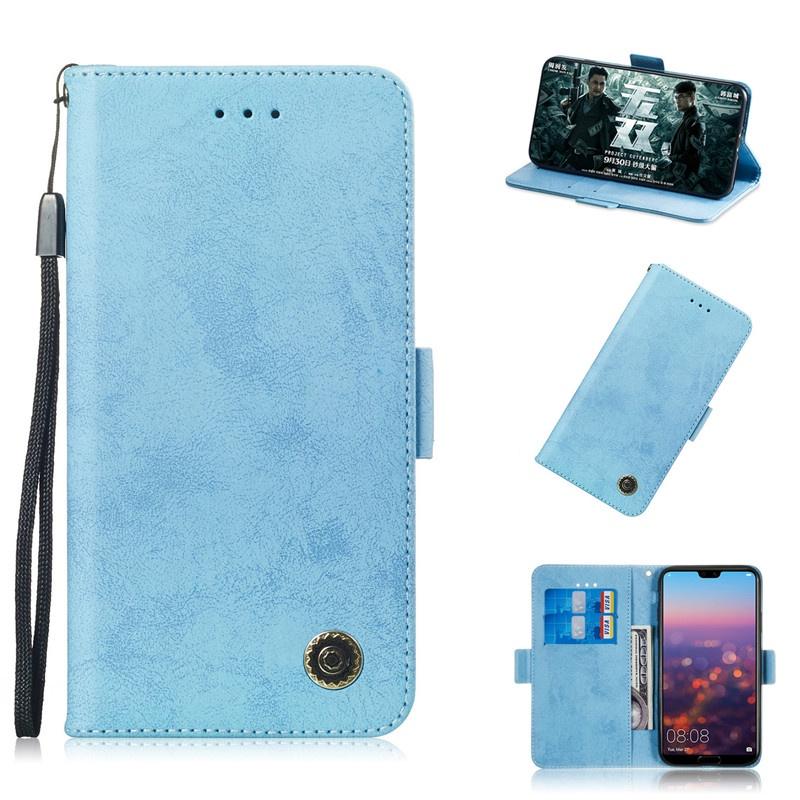 Для Huawei P20 Lite / Nova 3E Чехол Флип Стенд Бумажник Ретро Кожаный Чехол дизайн Мобильного Телефона Сумка Слот Для Карты Для Huawei P20 P20 Pro