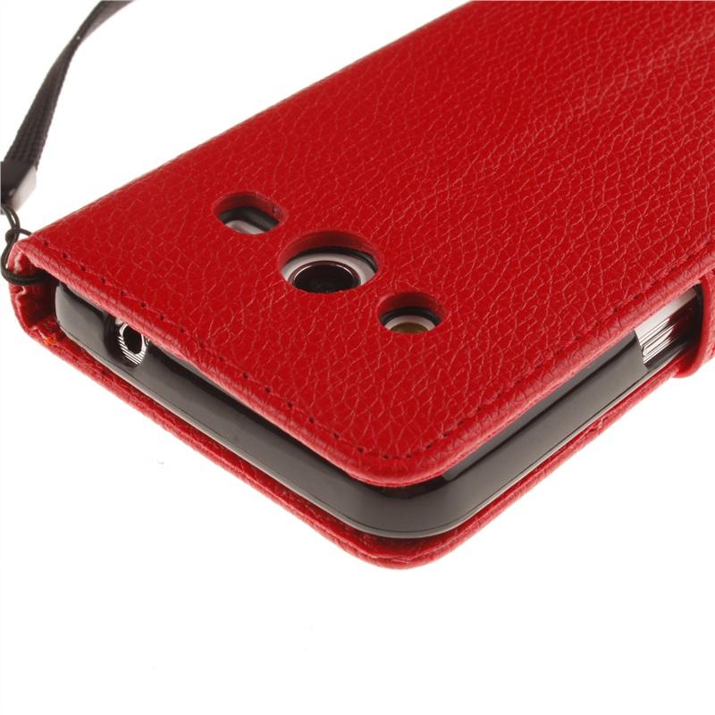 Кожаный чехол из PU   с флип-функцией, слотами для карт, магнитной крышкой для Samsung Galaxy Core 2 G355