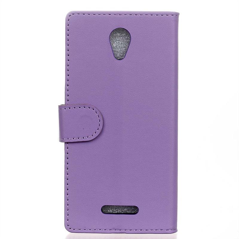 Чехол-книжка с отделениями для карточек для Alcatel OneTouch Pop 4 - фиолетовый стоимость