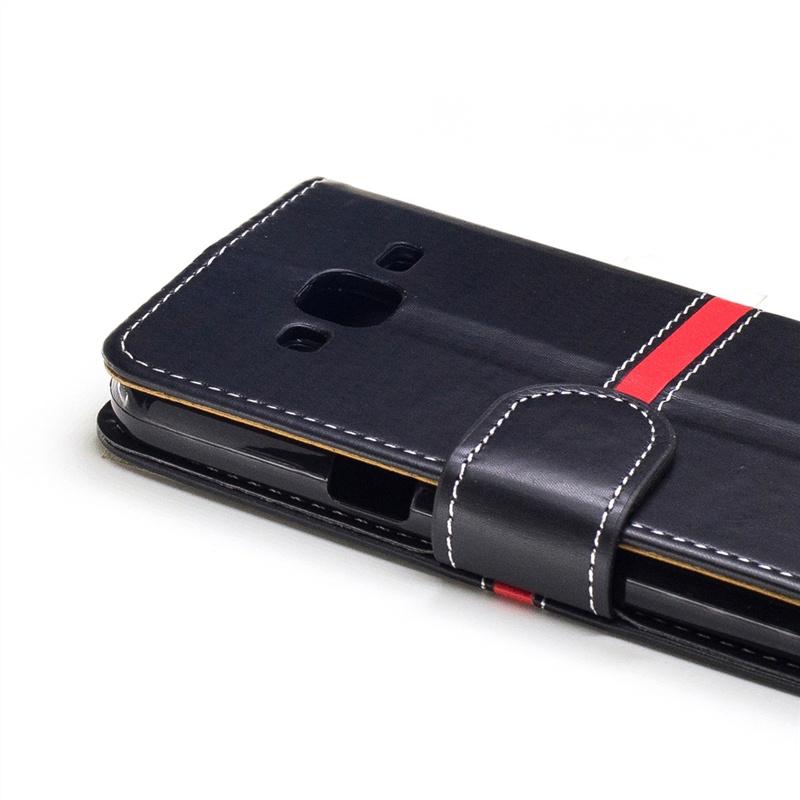 Кожаный чехол с магнитной застежкой и отделениями для карт для Samsung Galaxy J3 (2016) J310