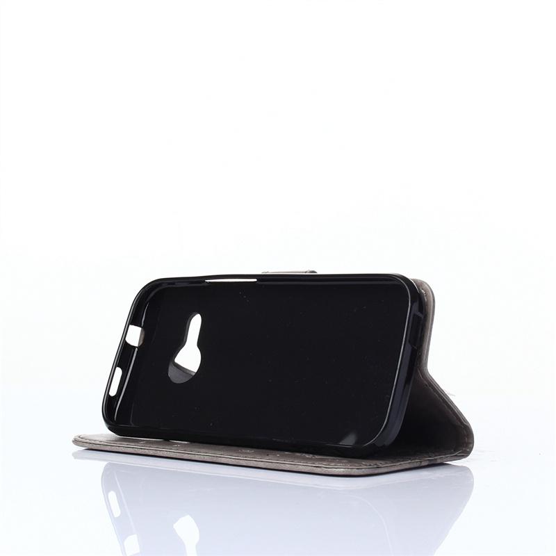 Moonmini Кожаный чехол с флип-стойкой с держателем для карточек с магнитным закрытием (серый) для HTC One Remix / HTC One M8