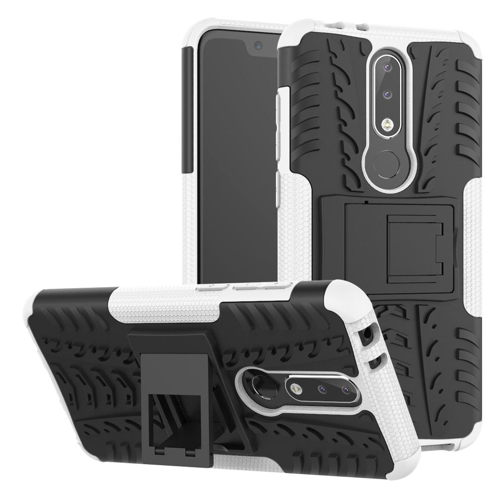 Чехол для Nokia 5.1 Plus, защитный чехол MOONCASE (защита от падений) Защитный чехол из прочной брони Гибкий ТПУ с защитным чехлом для крепления на подставку для Nokia 5.1 Plus (Nokia X5) 5.