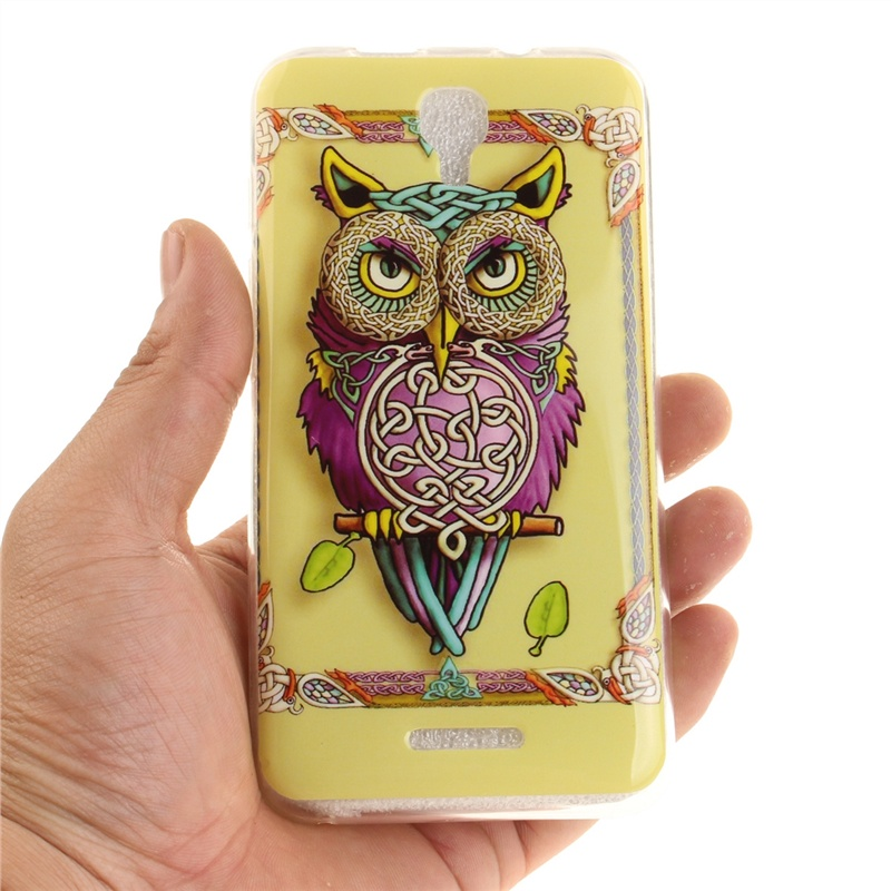 Asbeauty for Alcatel Pixi 4 5.0 5045D Ultra Slim Fit Soft TPU Phone Back Case Cover Protector (Colorful Owl) 3cleader® case cover shell skin for ps4 dualshock 4 controller with buttons chrome plating color purple