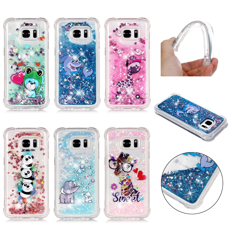 Samsung Galaxy S7 Back Case Slim Fit Плавающий жидкий мягкий корпус телефона Tpu Ударопрочный защитный чехол Пузыри Слон все цены