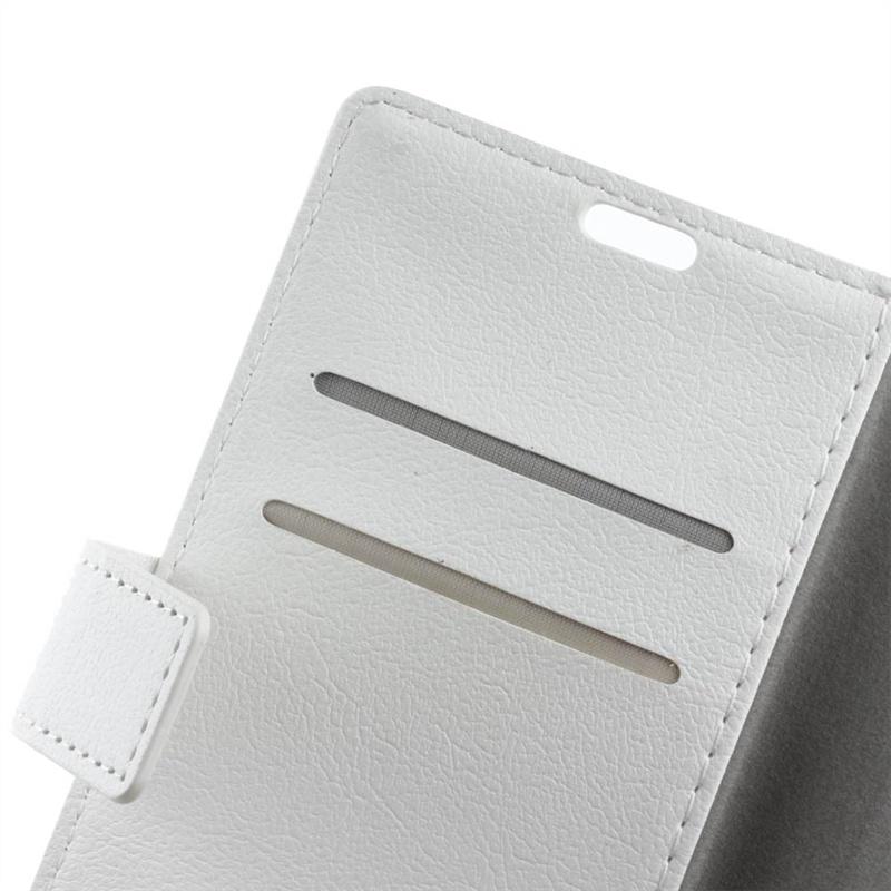 Moonmini для Meizu U10 PU Кожаный чехол с флип-кошельком Подставка для карт памяти с магнитным закрытием (белый)