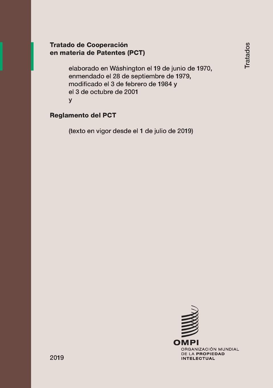 Tratado de Cooperacion en materia de Patentes (PCT). Reglamento del PCT (texto en vigor desde el 1 de julio de 2019) león silva julio césar lópez rosa margarita niif 2 pagos basados en acciones