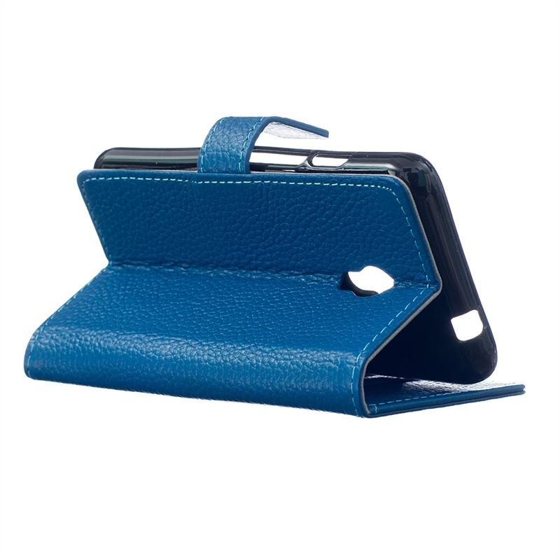Чехол Moonmini для Alcatel One Touch Pixi 4 5.0-дюймовый из ПУ кожи, с магнитной флип-застежкой и слотами для карточек (синий)