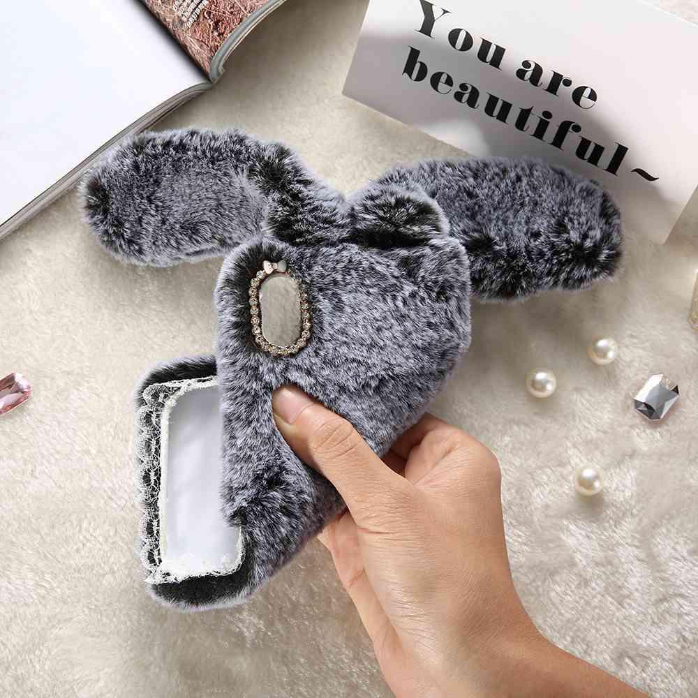 Мохнатый чехол Кролик (для IPhone/ Samsung/ Xiaomi/ Huawei) телефон samsung gt c
