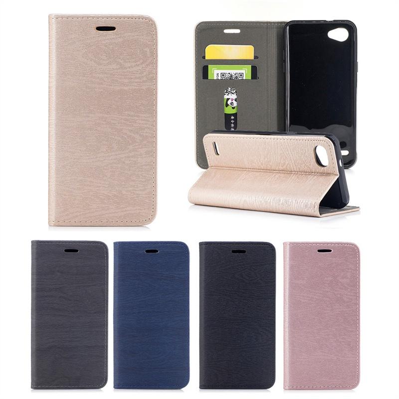 Кожаный чехол для LG Q6 Bark Grain Магнитное закрытие флип-подставка с карточными слотами (золотой) цена и фото