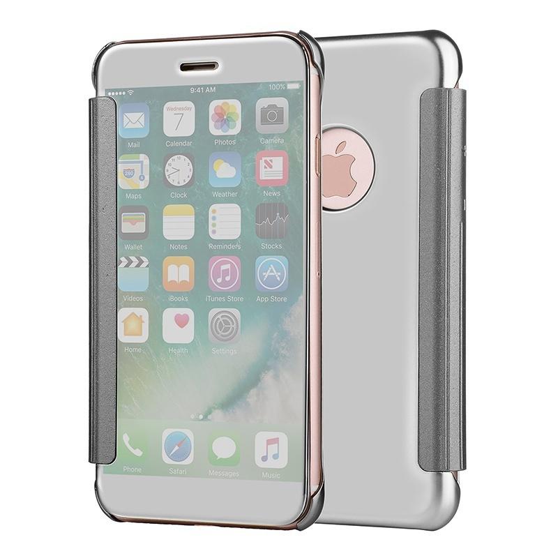 Флип-зеркальный телефонный чехол для iPhone X / 6 / 6s / 6plus / 7 / 8 / 7plus / 8plus / Samsung Galaxy S8 glare free screen protector with cleaning cloth for iphone 3g