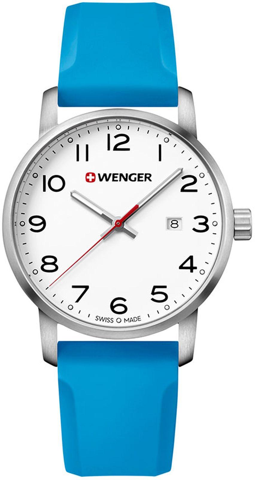 цена Наручные часы Wenger мужские, голубой онлайн в 2017 году