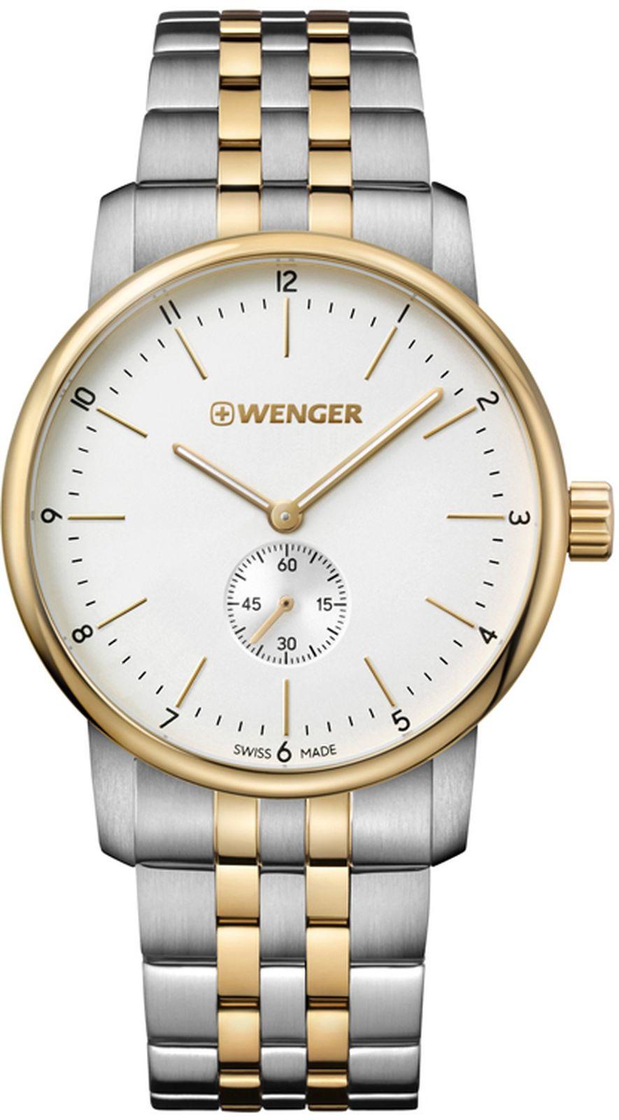 цена Наручные часы Wenger мужские, стальной, золотой онлайн в 2017 году