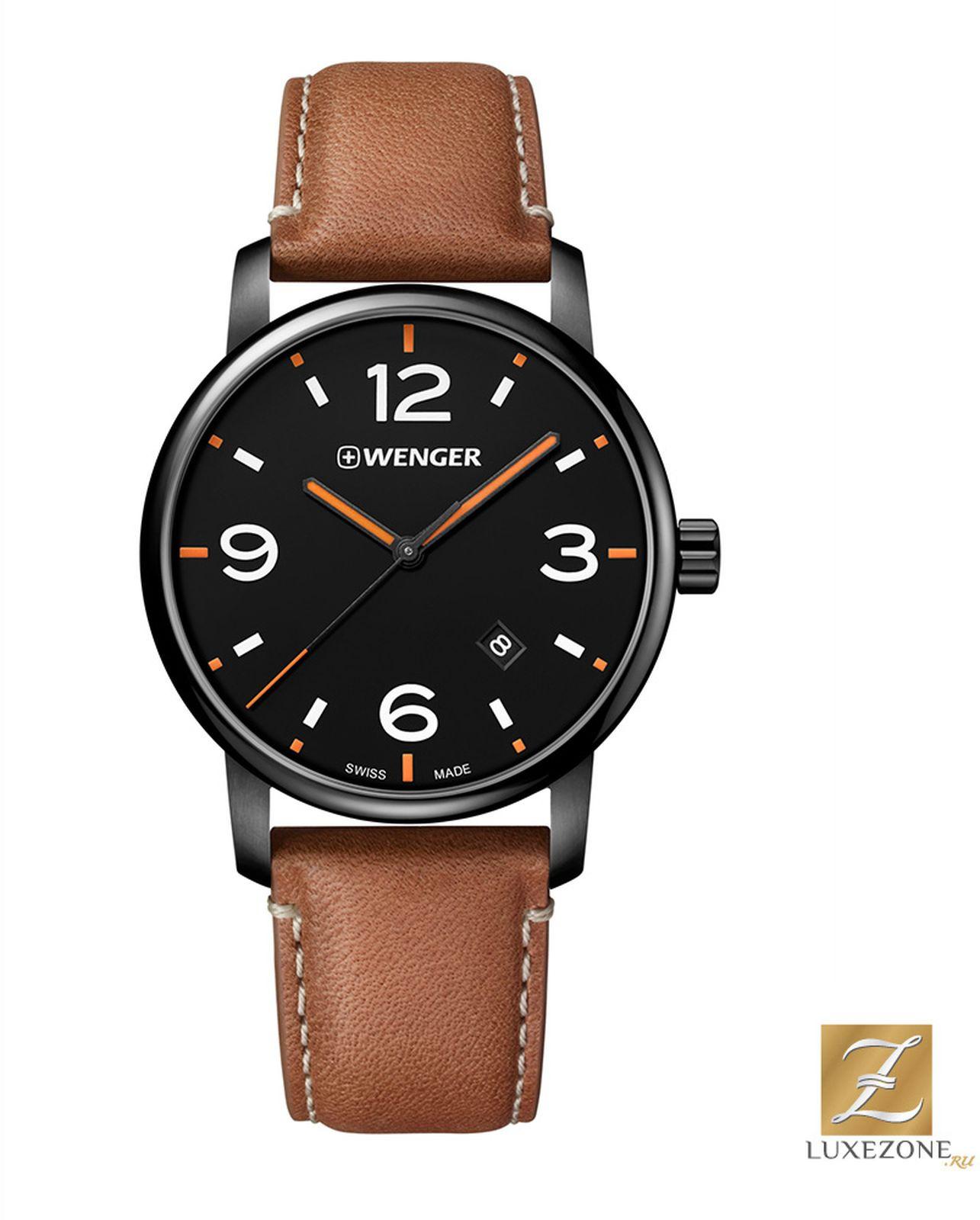 цена Наручные часы Wenger мужские, коричневый онлайн в 2017 году