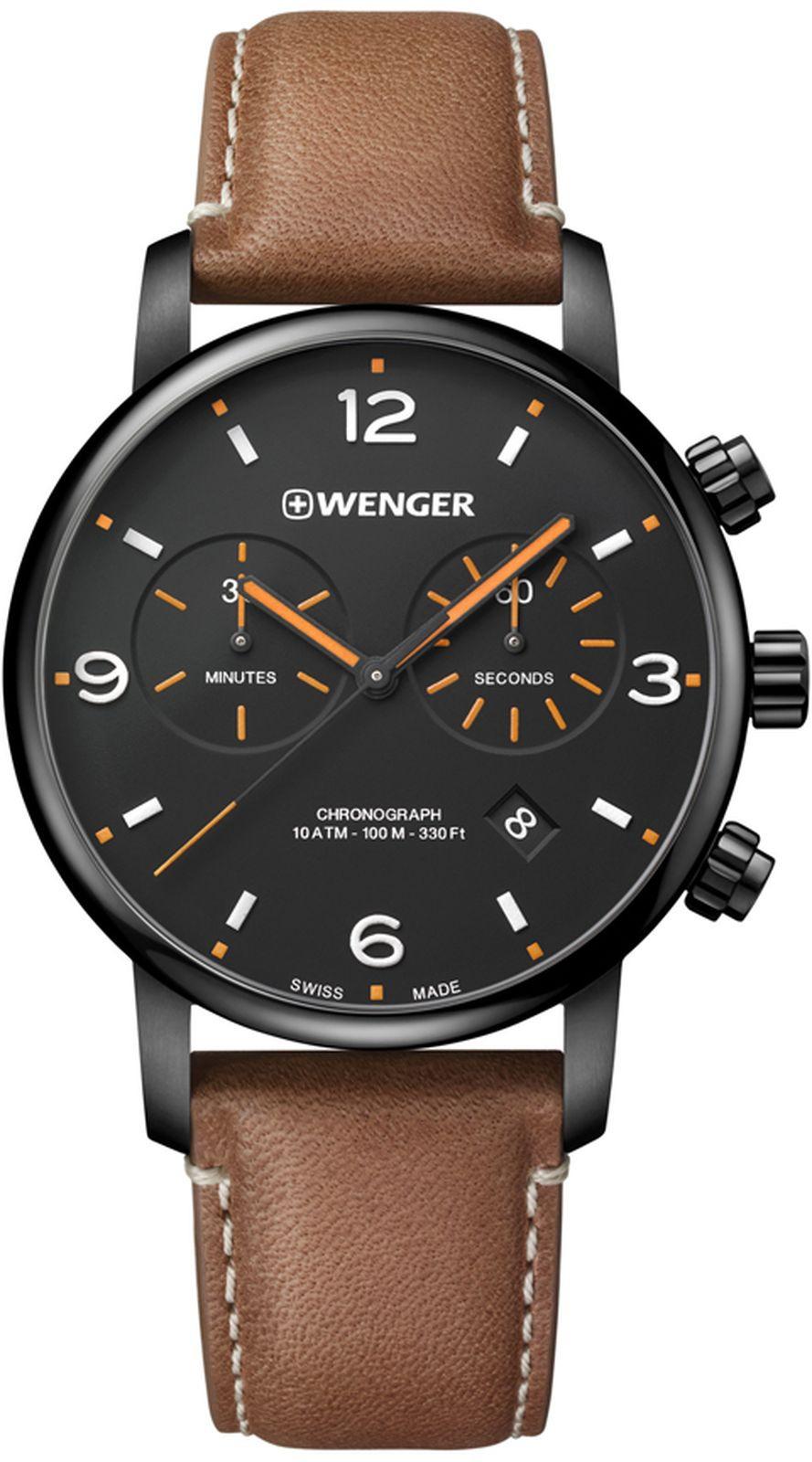 Наручные часы Wenger мужские, коричневый наручные часы мужские french connection цвет коричневый fc1278t