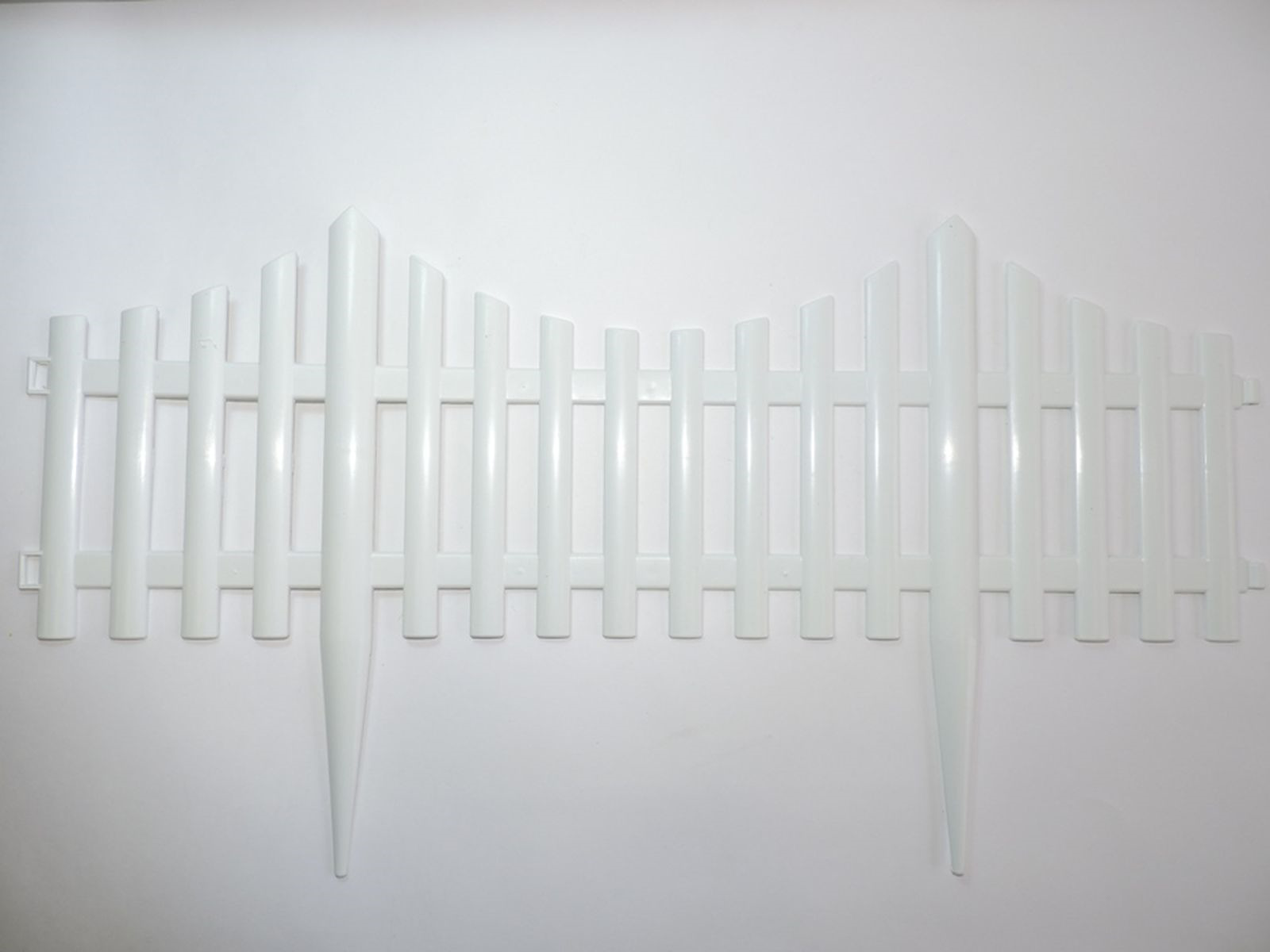 Забор садовый Ромашка, S306, белый, 60 х 33 см, 4 шт