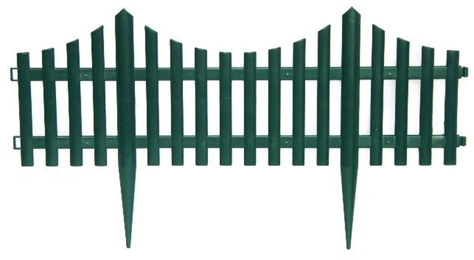 Забор садовый Ромашка, S306, зеленый, 60 х 33 см, 4 шт