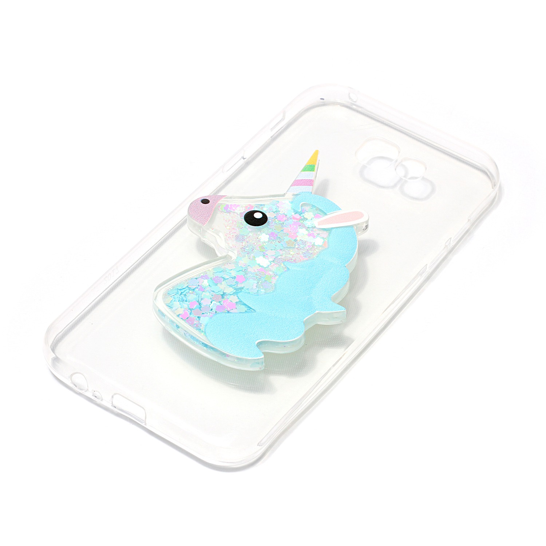Samsung Galaxy A5 (2017) A520 Назад Чехол Quicksand Единорог Pattern Телефон Дело Защитная крышка Розовый все цены