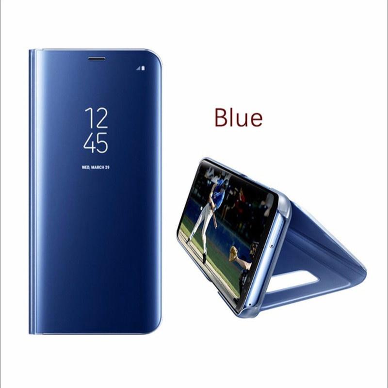 Флип Кейс Чехол для телефона Корпус Зеркало прозрачный для Samsung S7 S8 S8 Plus S9 S9 Plus Чехол кейс для назначение ssamsung galaxy s9 plus s9 кольца держатели кейс на заднюю панель однотонный твердый пк для s9 s9 plus s8 plus