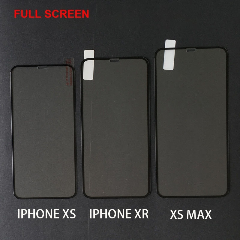 Для Iphone X Iphone Xs Iphone Xr Iphone Xs Max Screen Protector Full Cover Закаленное стекло Защитные пленки Защитная пленка для мобильных телефонов
