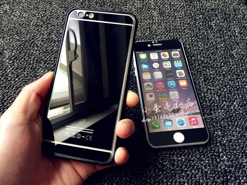 Прохладный Fahion 9H Твердость Передняя + задняя зеркало Закаленное стекло Защитная пленка для iPhone 6 / iphone 6 Plus / iphone 6s / iphone5 / iphone 7 / iphone 7 plus