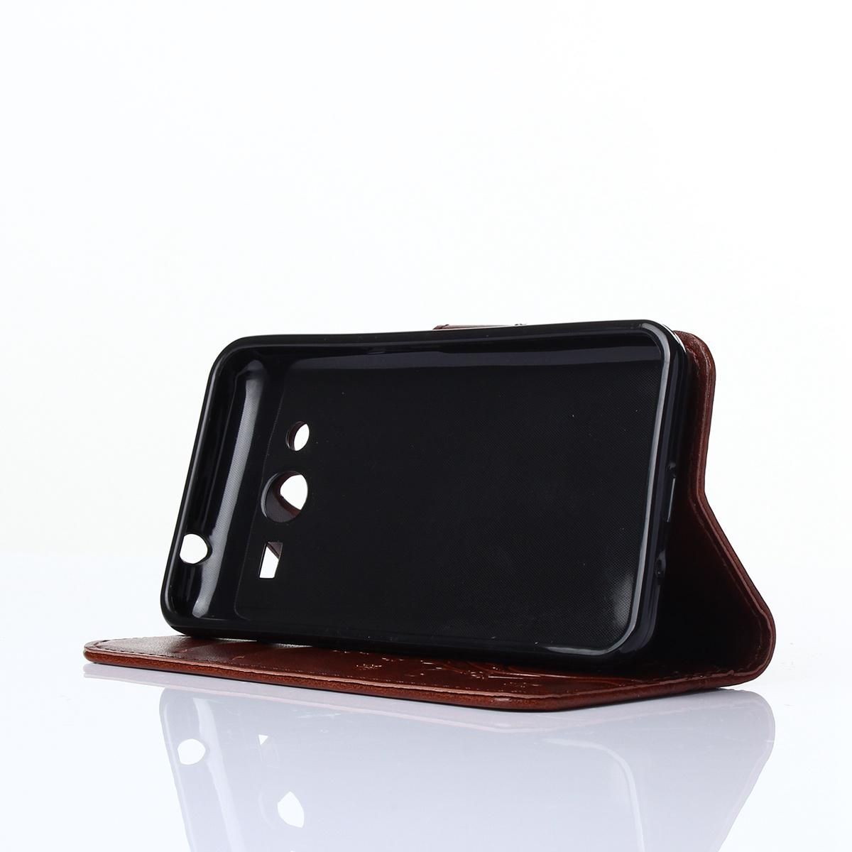 Для Samsung Galaxy Core 2 G355H Цветочная бабочка Pattern PU Кожаный чехол Flip Стойка Крышка карт памяти с магнитным закрытием (коричневый) все цены