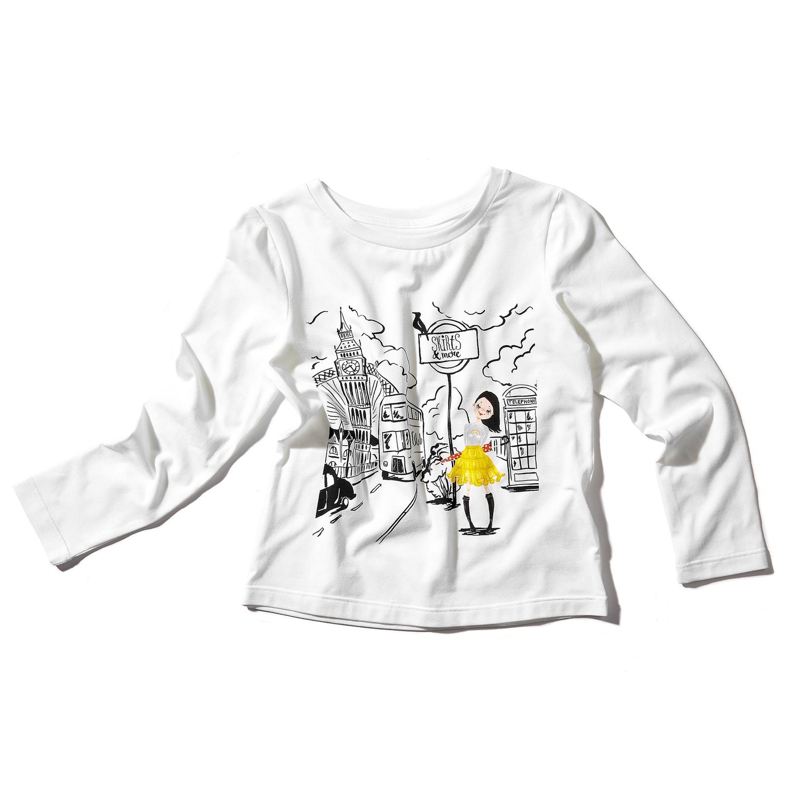 Фото - Лонгслив Skirts and more jeremyville белая футболка из хлопка с принтом