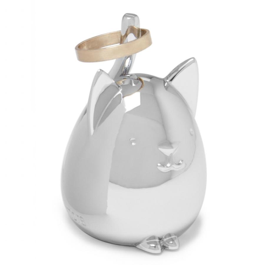 Подставка для колец Umbra SQUIGGY кот хром стоимость