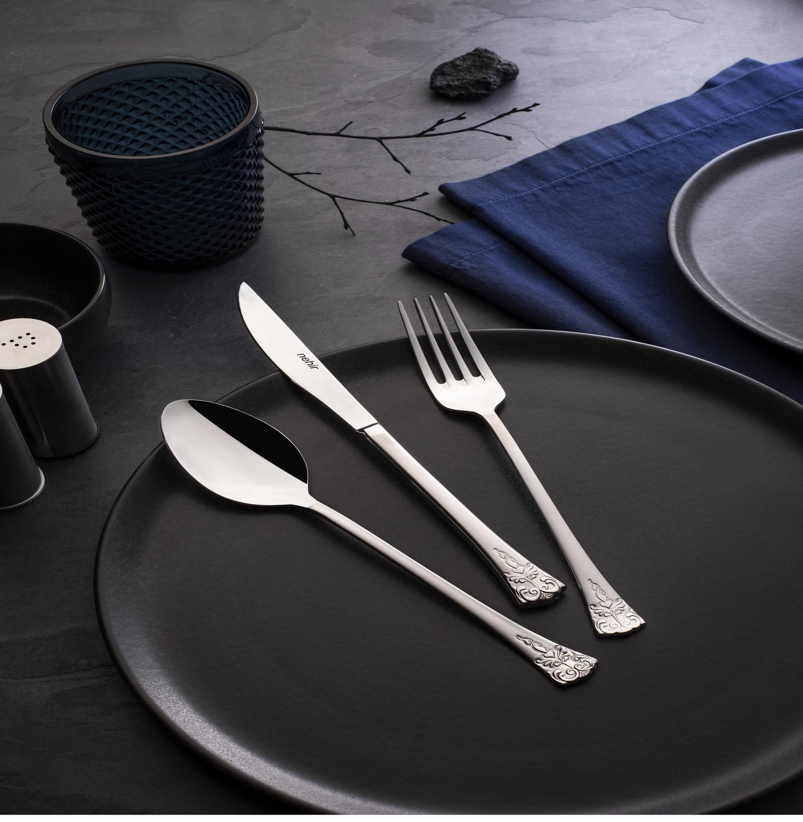 Набор столовых приборов 24 предмета NEHIR набор столовых приборов nehir akasyasade серебристый
