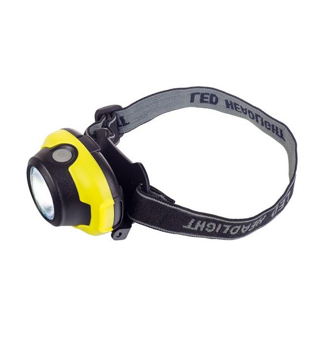 Фонарь налобный светодиодный Perfeo PF_A4448, 1Вт, чёрный, жёлтая вставка налобный фонарь perfeo pf a4403 синий
