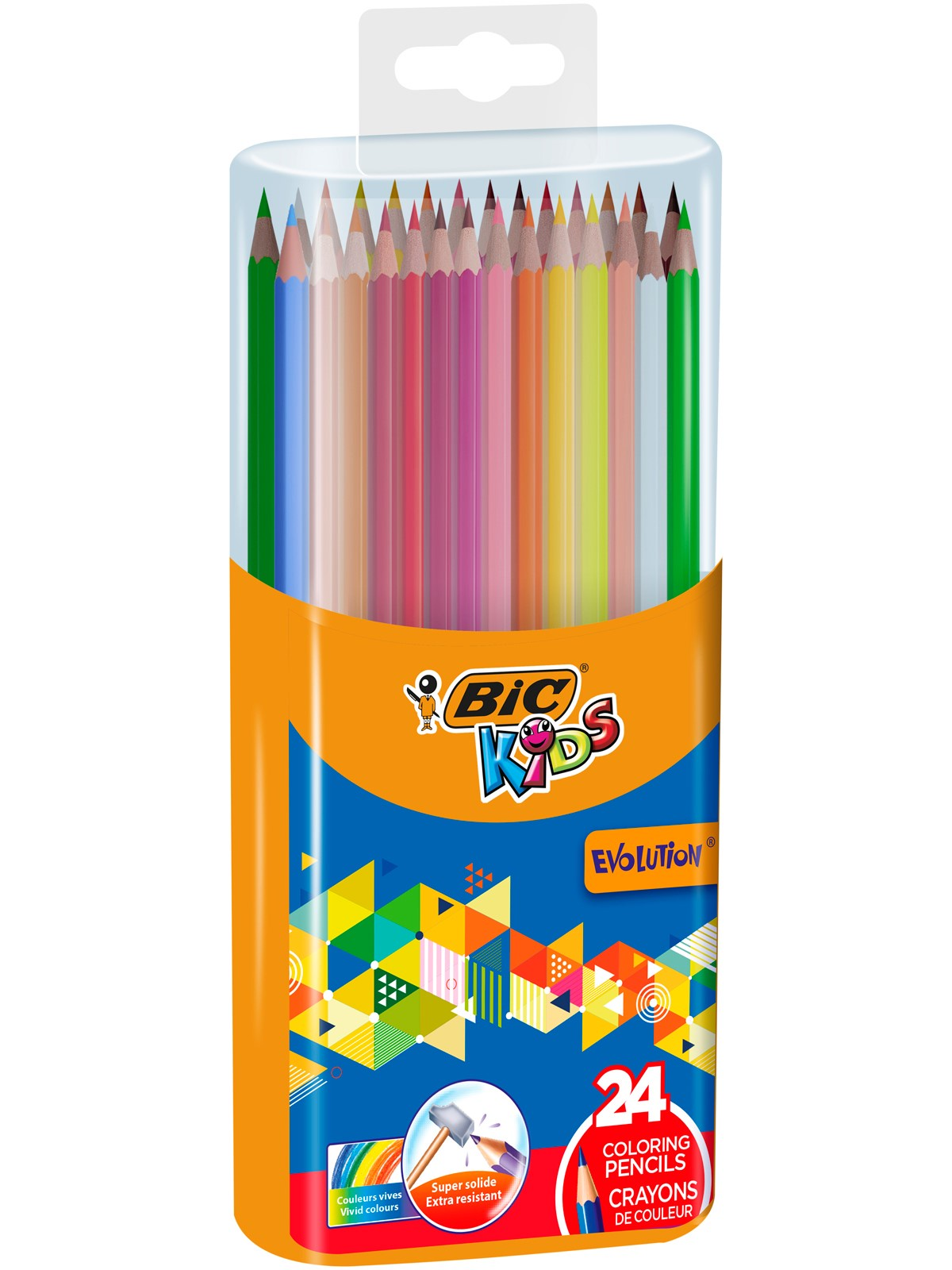 Цветные карандаши BIC Kids Evolution 24 цветов в пластиковом боксе