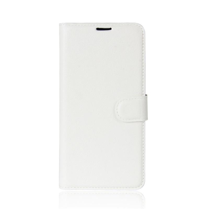 Фирменный чехол-книжка из качественной импортной кожи с мульти-подставкой застёжкой и визитницей для Motorola Moto G5S Plus 5.5 белый MyPads