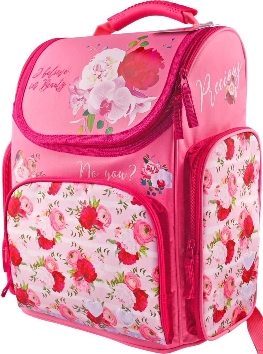Рюкзак-ранец школьный BG Right Pink dream 38*34*21 см (влагонепроницаемый полиэстер, вентилируемая эргономичная спинка, уплотнённые лямки, светоотражающие элементы)