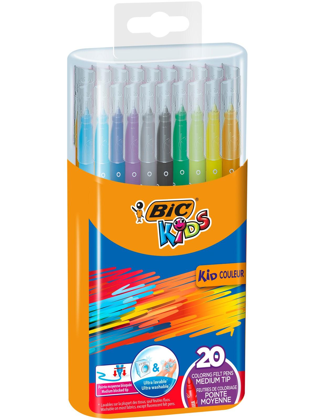 Фломастеры BIC Kids Kid Couleur 20 цветов в пластиковом боксе