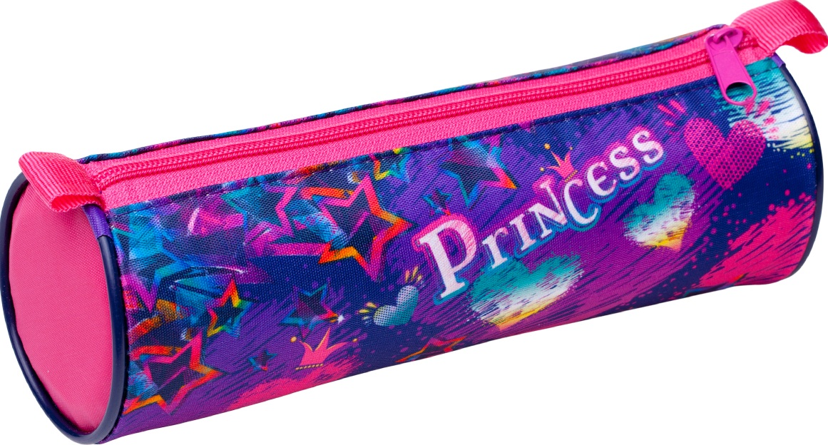 Пенал-тубус BG на молнии Princess, текстиль 210х70 мм