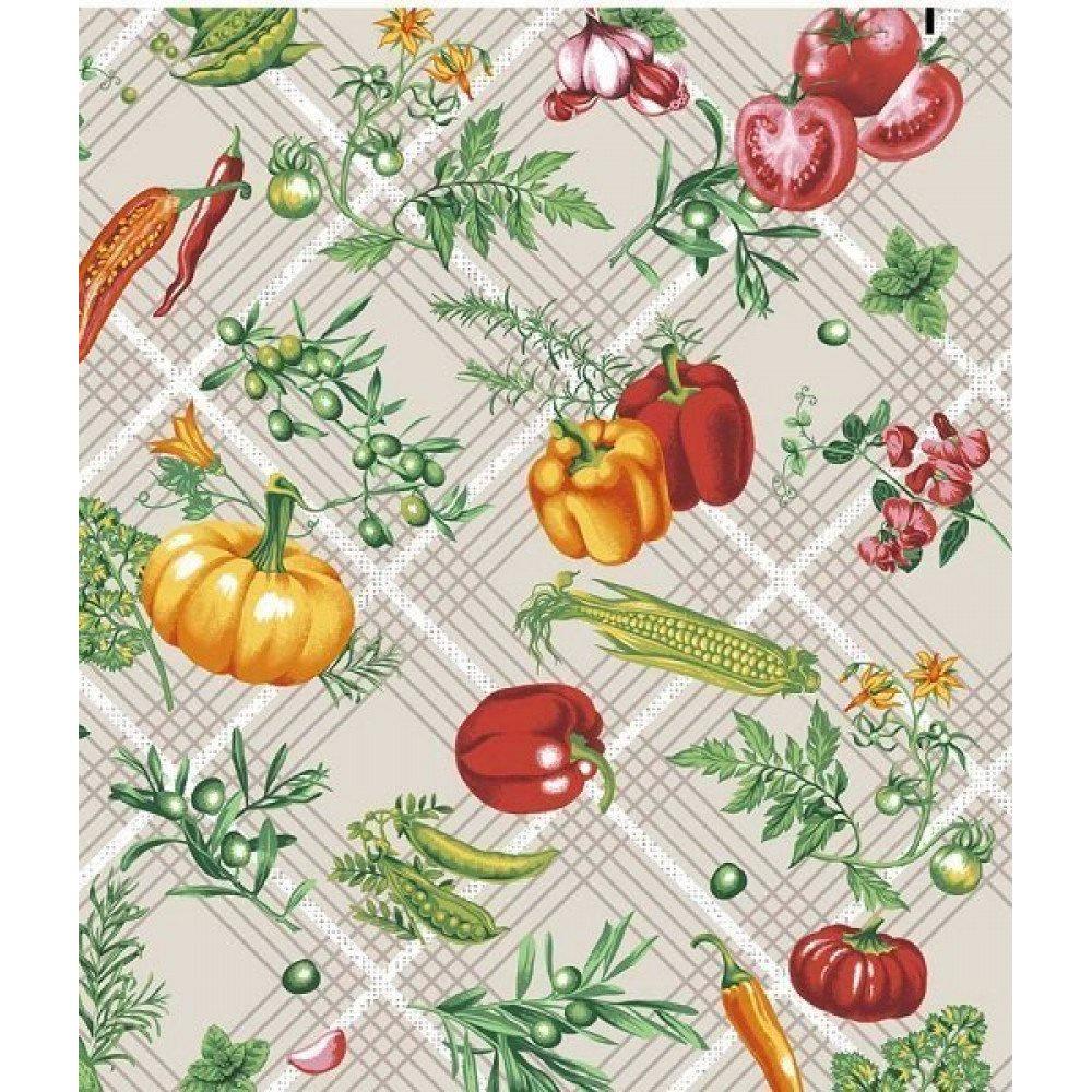 Полотенце кухонное вафельное Овощи (37х73) Мир Вафельных Полотенец