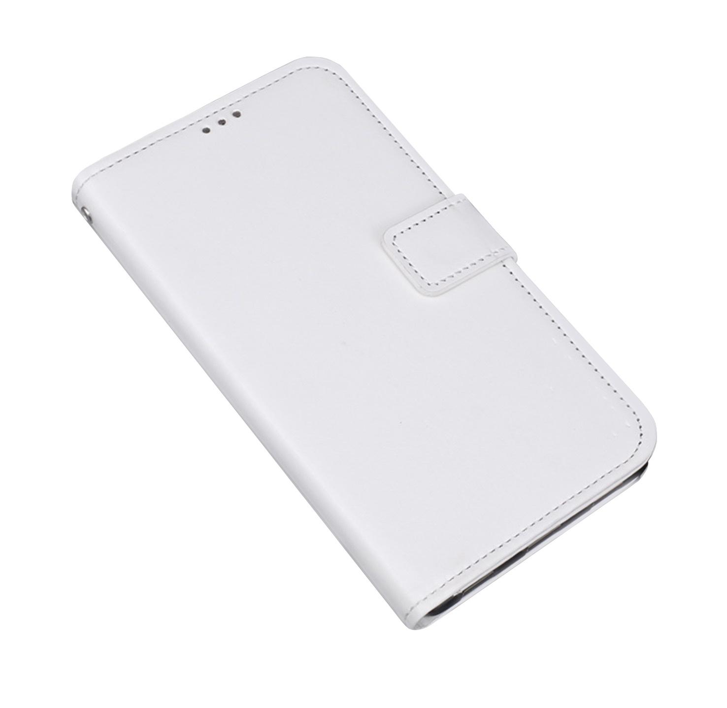 Фирменный чехол-книжка из качественной импортной кожи с мульти-подставкой застёжкой и визитницей для Samsung Galaxy J5 Prime/ Samsung Galaxy On5 2016 белый MyPads