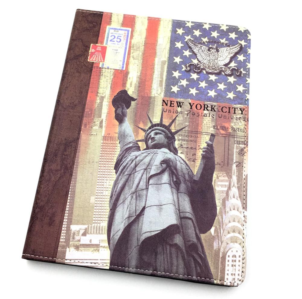 Apple iPad Air Чехол-книжка Мобильная Мода пластиковая с подставкой и рисунком, статуя свободы