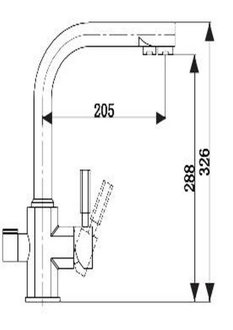 Смеситель для кухни Kaiser Decor 40144-2 с подключением к фильтру Black