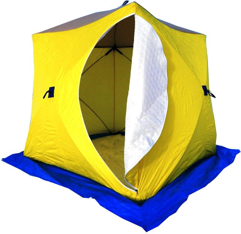 Палатка рыбака Стэк КУБ, трехместная, трехслойная