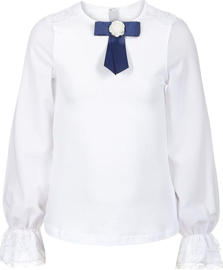 Блузка Nota Bene длинный свитер с кружевом внизу купить