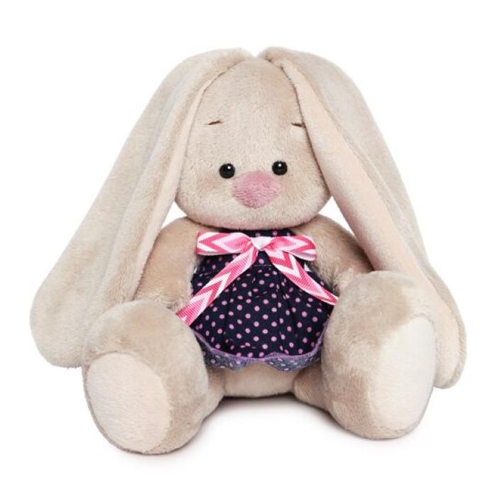 Мягкая игрушка Budi Basa Зайка Ми в платье в горошек (малыш), 15 см