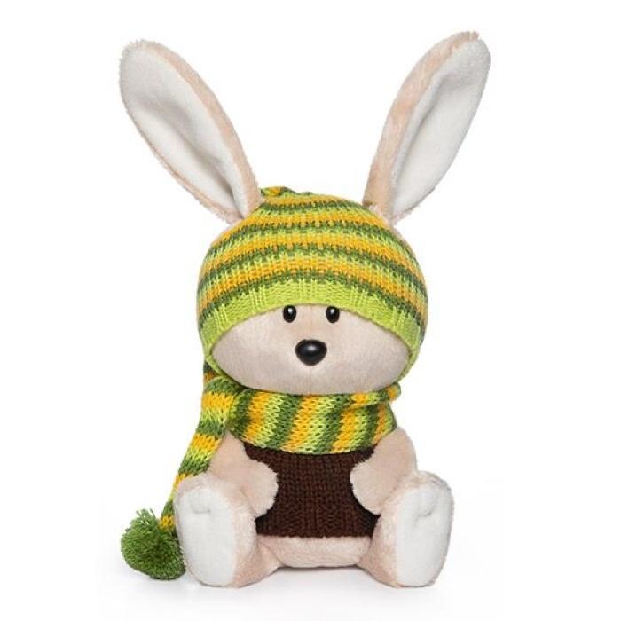 Мягкая игрушка Budi Basa Заяц Антоша в шапочке и свитере, 15 см nici мягкая игрушка айюми улыбка